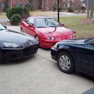 3 Hondas