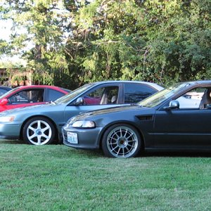 a few of my friends cars with mine